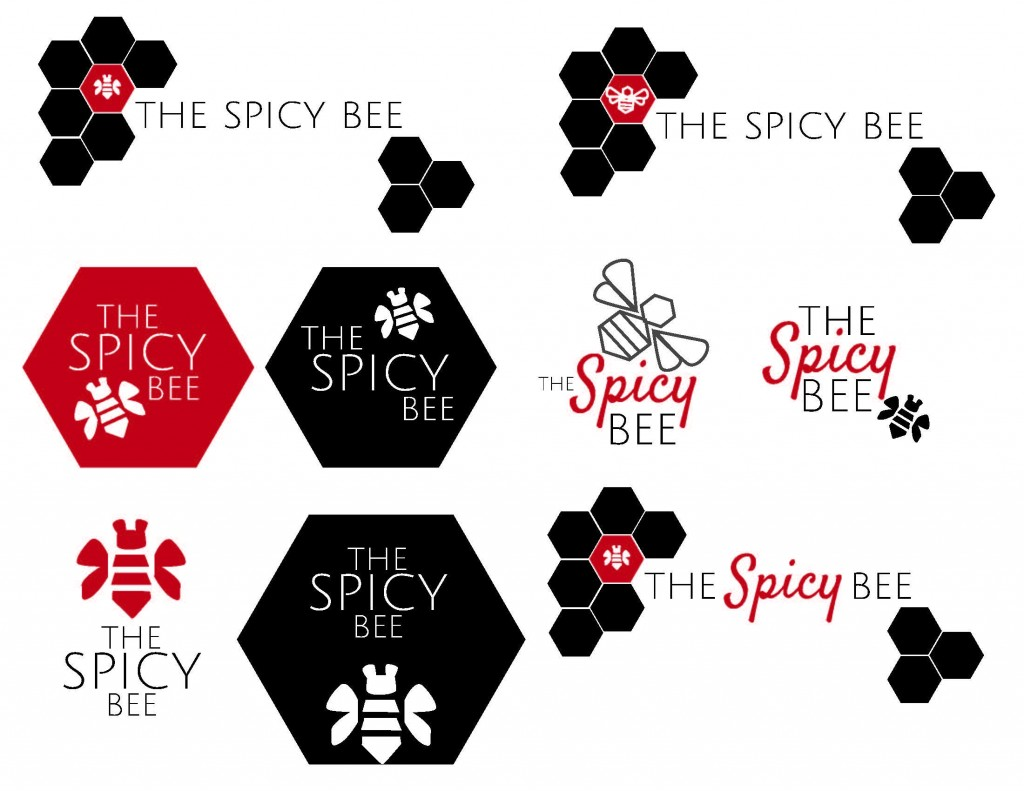 Logo Development for The Spicy Bee